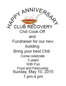 3rd Anniversary of Club Recovery