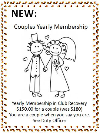 Annual couples dues